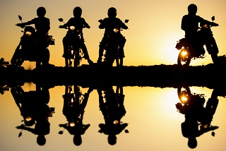 image of several motorcycle riders